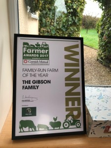 Winner Family Run Farm of the year 2017 - The Gibson Family West Middlewick Farm