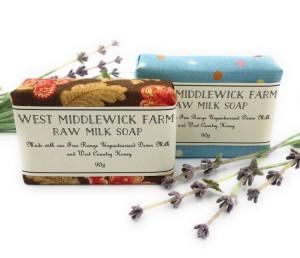 Raw milk soap